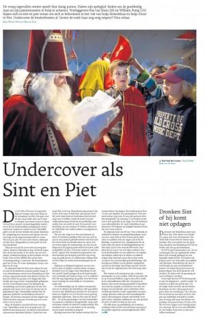 Undercover als Sint en Piet